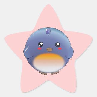 Autocollants mignons d'oiseau bleu de kawaii