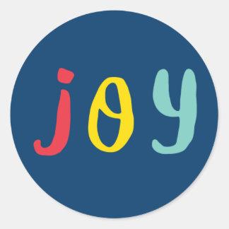 Autocollants multicolores de vacances de la joie