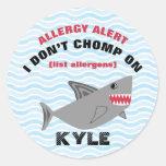 Autocollants multiples de requin d'alerte
