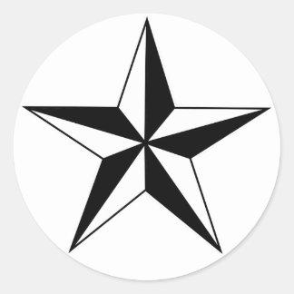 Autocollants nautiques noirs et blancs d'étoile