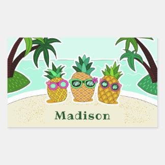 Autocollants nommés faits sur commande d'ananas