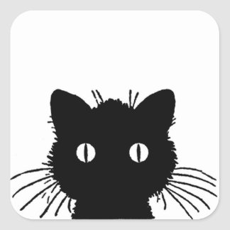 Autocollants observés sauvages de chat