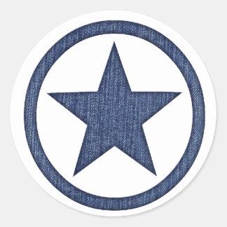 Autocollants occidentaux d'insigne d'étoile de