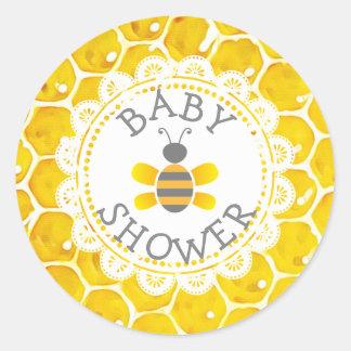 Autocollants orientés de nid d'abeilles d'abeille