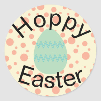 Autocollants orientés en pastel de Pâques