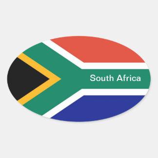 Autocollants ovales 1 de l'Afrique du Sud