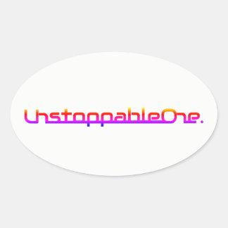 Autocollants ovales d'UnstoppableOne - quantité de
