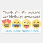 Autocollants personnalisables de Merci d'Emoji -