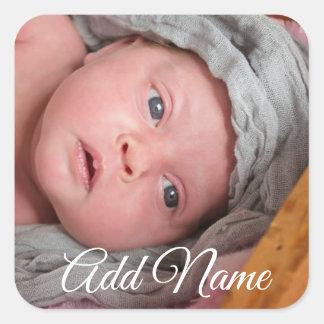 Autocollants personnalisés de photo de bébé