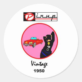 AUTOCOLLANTS  PIN-UP vintage 1950