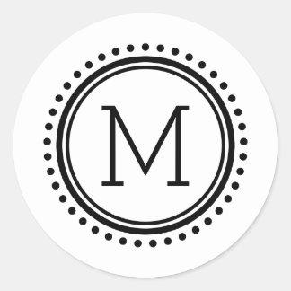 Autocollants pointillés de monogramme de famille