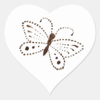 Autocollants pointillés de papillon