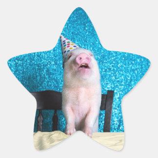 Autocollants porcins d'anniversaire !