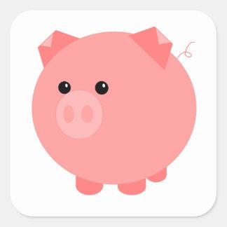 Autocollants potelés mignons de porc