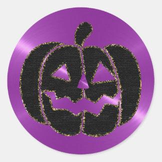 Autocollants pourpres et noirs de Halloween de