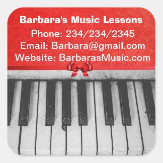 Autocollants promotionnels de leçons de piano
