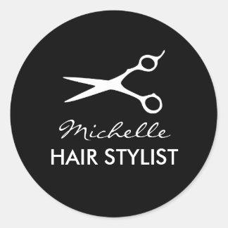 Autocollants ronds de coiffeur pour le coiffeur