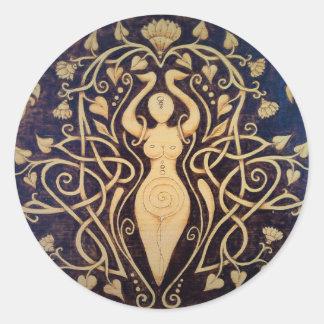 Autocollants ronds de déesse de Lotus