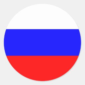 Autocollants ronds de drapeau de la Russie