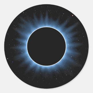 Autocollants ronds d'éclipse solaire