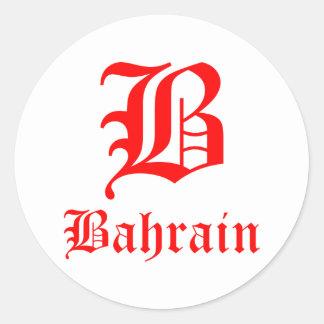 Autocollants ronds du Bahrain