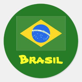 Autocollants ronds du Brésil