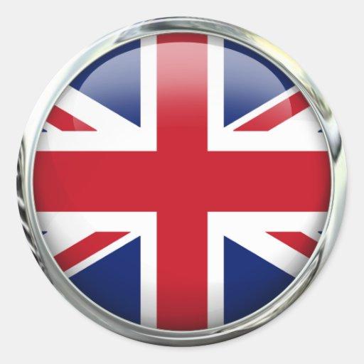 Autocollants ronds d'Union Jack de drapeau