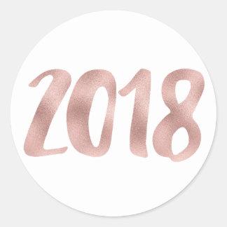 Autocollants roses de l'aluminium 2018 de faux