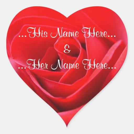Autocollants roses romantiques de mariage