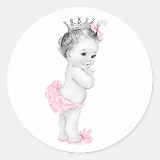 Autocollants roses vintages de princesse baby