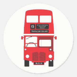 Autocollants rouges d'autobus de Londres