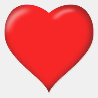 autocollants rouges de coeur de l'amour 3D