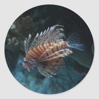 Autocollants rouges de Lionfish
