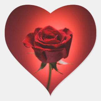 Autocollants rouges de Saint-Valentin de rose