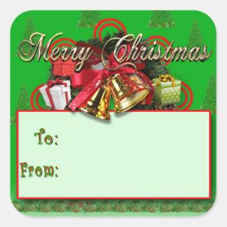 Autocollants rouges élégants d'étiquette de cadeau