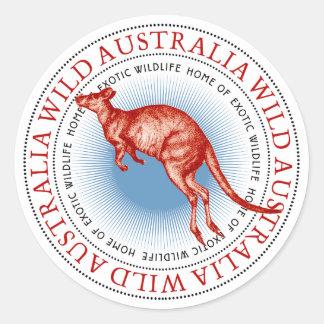 Autocollants sauvages de kangourou de l'Australie