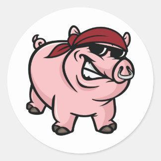 Autocollants sauvages de porc