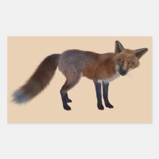 autocollants sauvages de renard