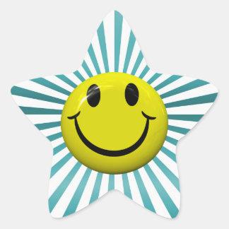 Autocollants souriants heureux d'étoile