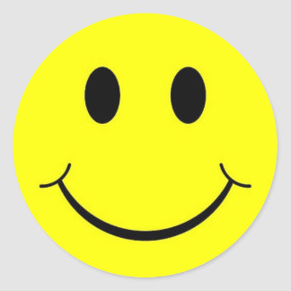 Autocollants souriants les années 70 heureux de