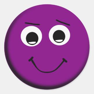 Autocollants souriants pourpres de visage