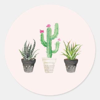 Autocollants succulents de faveur de cactus de