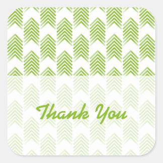 Autocollants tribaux verts de Merci de flèches