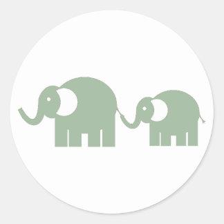 Autocollants verts d'éléphant