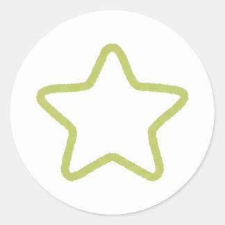 Autocollants verts d'étoile