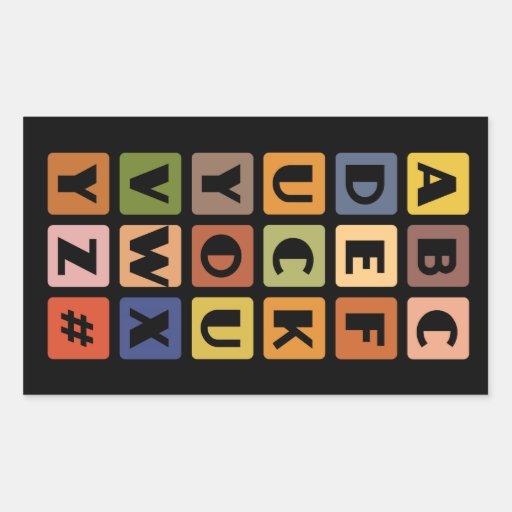 Autocollants vilains d'alphabets