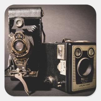 autocollants vintages d'appareils-photo