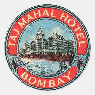 Autocollants vintages de Bombay d'hôtel du Taj