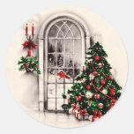 Autocollants vintages de fenêtre de Noël