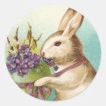 Autocollants vintages de lapin de Pâques